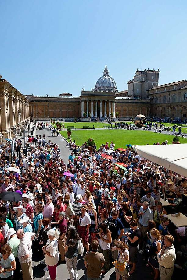 It's a blessing that travelers can skip this mob scene by reserving tickets for the Vatican Museum in Rome. Photo: Dominic Arizona Bonuccelli, Rick Steves' Europe