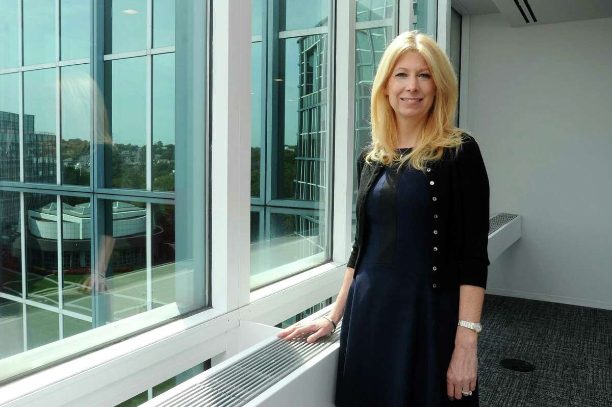 Gretchen Crist, senior vice president of human resources at Henkel North America, poses for a photo inside the new Henkel offices at 200 Elm St., in downtown Stamford, Conn., on Tuesday, Sept. 12, 2017.