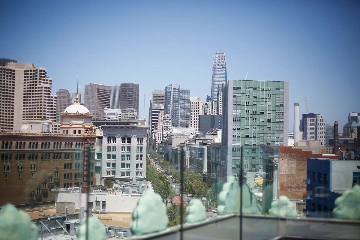 The view of San Francisco from the roof of the Proper Hotel in San Francisco on Friday, June 30, 2017.