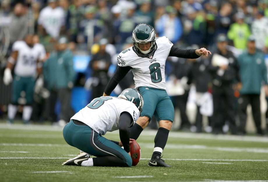 SEATTLE, WA - NOVEMBER 20:  Kicker Caleb Sturgis #6 of the Philadelphia Eagles goes for an extra point against the Seattle Seahawks at CenturyLink Field on November 20, 2016 in Seattle, Washington.  (Photo by Otto Greule Jr/Getty Images) Photo: Otto Greule Jr/Getty Images