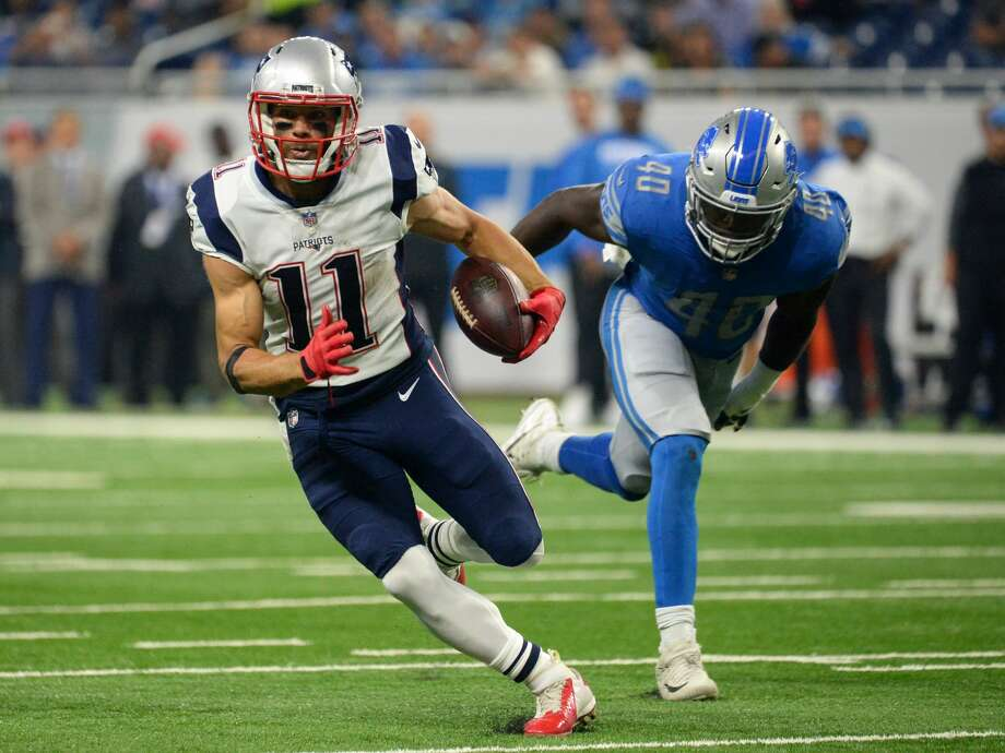 DETROIT, MI - AUGUST 25, 2017: Wide receiver Julian Edelman #11 of the New England Patriots carries the ball downfield in the first quarter of a preseason game on August 25, 2017 against the Detroit Lions at Ford Field in Detroit, Michigan. New England won 30-28. (Photo by: 2017 Nick Cammett/Diamond Images/Getty Images) Photo: Diamond Images/Diamond Images/Getty Images