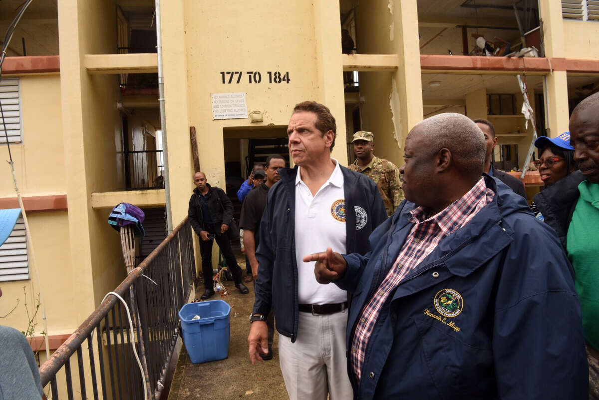 Gov. Andrew Cuomo and a delegation of administration officials traveled to the U.S. Virgin Islands to survey the damage caused by Hurricane Irma on Friday, Sept. 15, 2017. (Office of the governor)