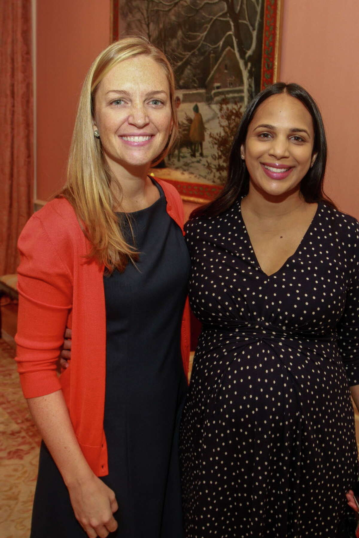 Caitlin Crotty, left, and Marsha Wadsworth at the Beauty in Motion luncheon at the Junior League of Houston. (For the Chronicle/Gary Fountain, September 15, 2017)