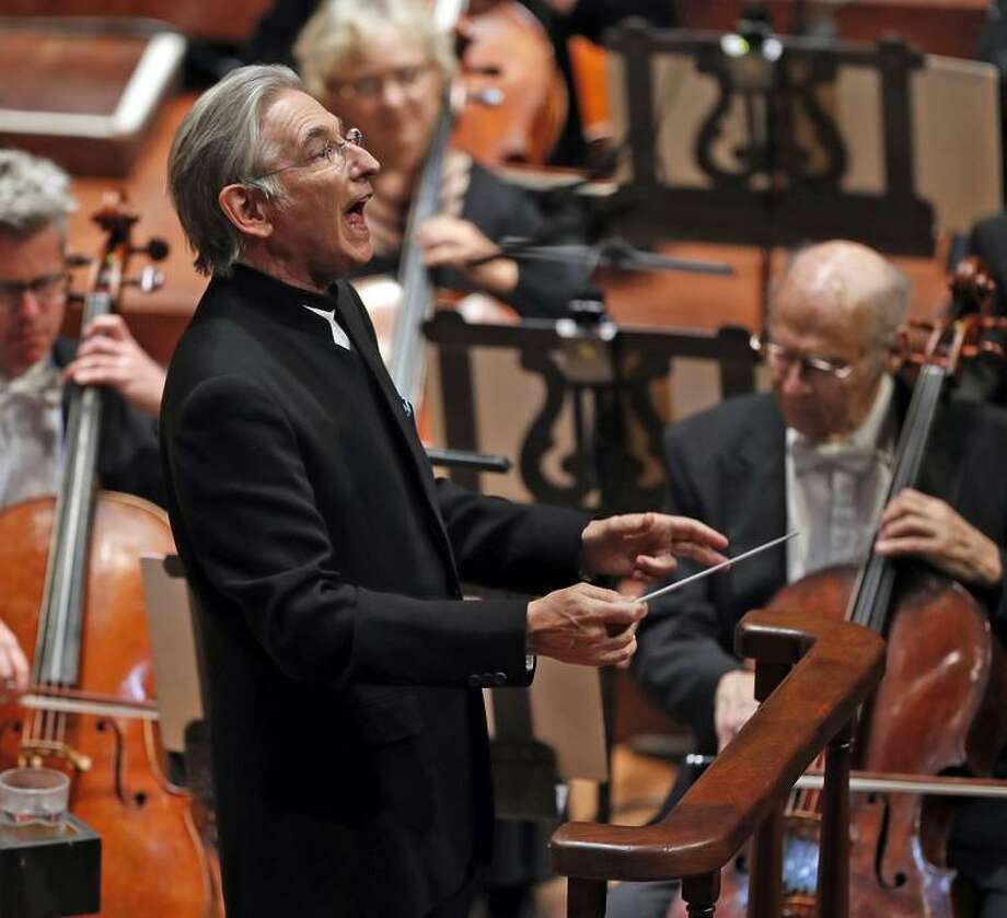 "Conductor Michael Tilson Thomas opened the season with Bernstein's ""Candide"" overture. Photo: Scott Strazzante / Scott Strazzante / The Chronicle / San Francisco Chronicle"