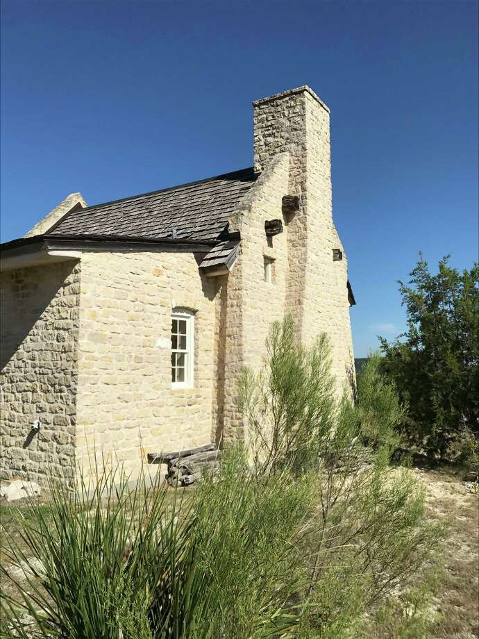 """Constructed from native stone by Fredericksburg builder Richard Laughlin, Robert Earl Keen's Scriptorium has, in Keen's words, """"a good vibe."""" / Houston Chronicle"""