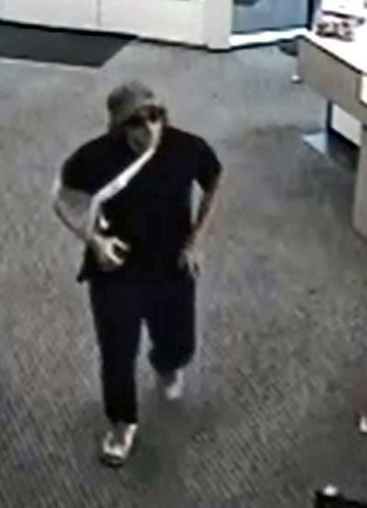 Officers responded to the People?'s Bank at 435 Main Street in Monroe, Conn., around 6 p.m. Thursday, Sept. 14, 2017, for a hold-up alarm, police said. Employees told police that just before the bank closed for the day, a man entered and demanded cash from a teller.
