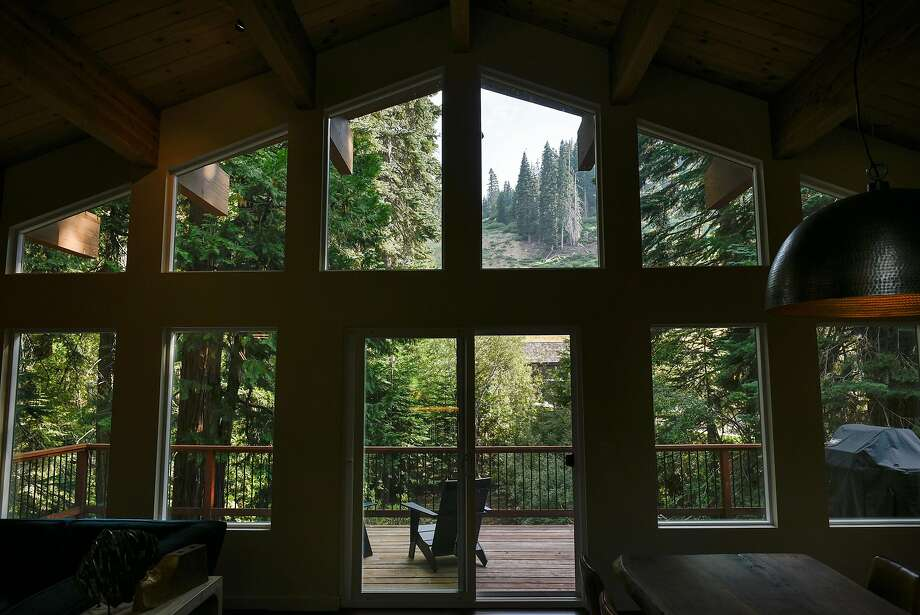 Views of Homewood Mountain resort are seen from the living room of Will and Caryn Sloan's Tahoe vacation home. Photo: Michael Short, Special To The Chronicle