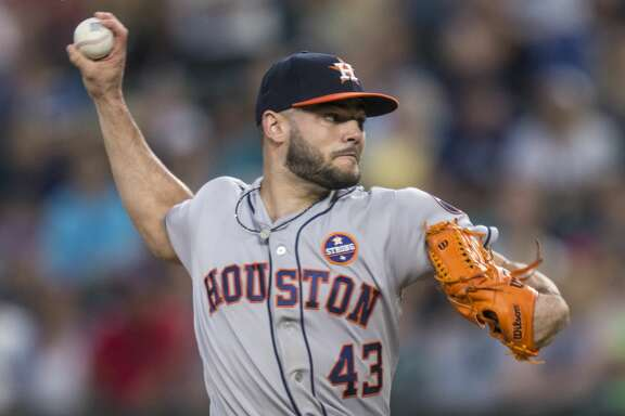 SEATTLE, WA - SEPTEMBER 6: Starter Lance McCullers Jr. of the Houston Astros delivers a pitch during the first inning of a game against the Seattle Mariners at Safeco Field on September 6, 2017 in Seattle, Washington. (Photo by Stephen Brashear/Getty Images)