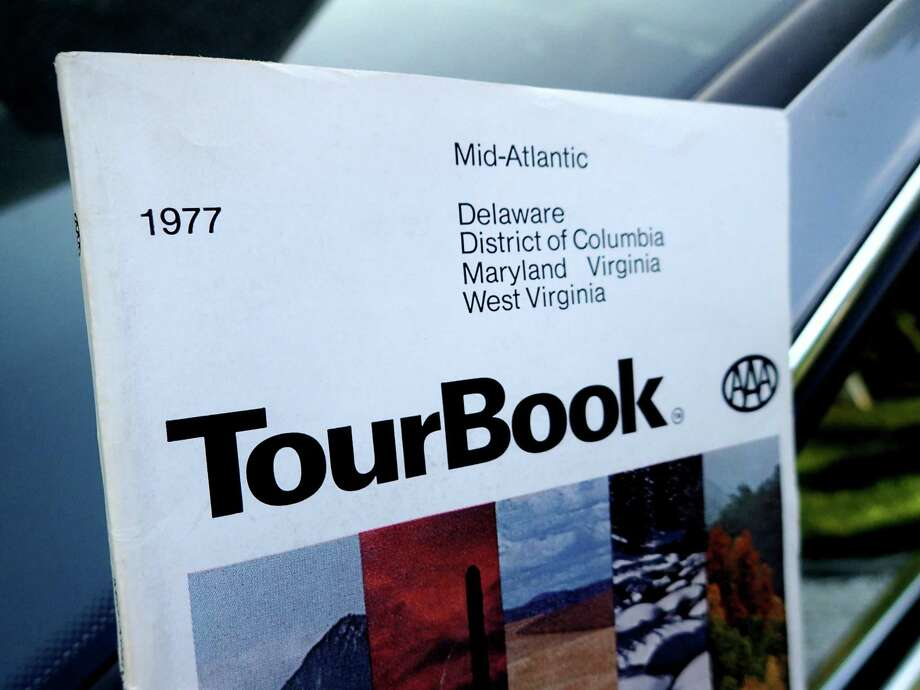 "The tome that started a trip: the ""AAA Mid-Atlantic TourBook"" for 1977. Photo: Photo By Melanie D.G. Kaplan For The Washington Post. / For The Washington Post"