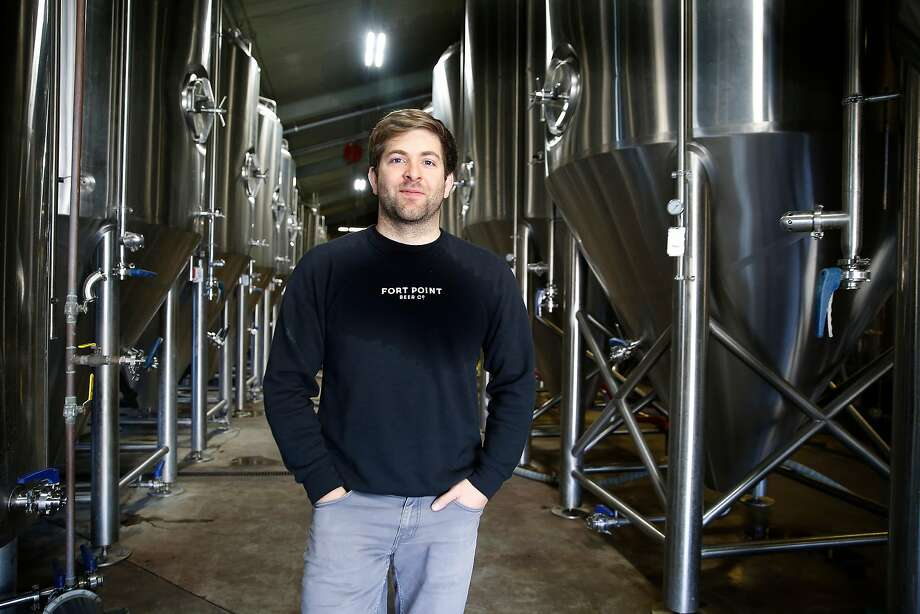 Fort Point brewery co-founder Justin Catalana at his Presidio brewery. Photo: Liz Hafalia / The Chronicle