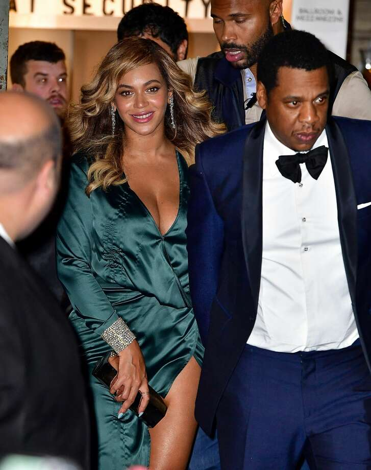 Beyonce and Jay-Z leave Rihanna's 3rd Annual Diamond Ball at Cipriani Wall Street on September 14, 2017 in New York City. Photo: James Devaney/GC Images