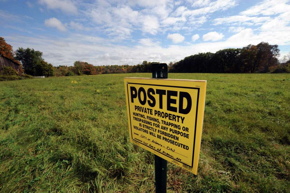 Part of the property owned by the City of Albany off Old Ravena Road on Thursday Oct. 2, 2014 in Coeymans, N.Y. (Michael P. Farrell/Times Union)