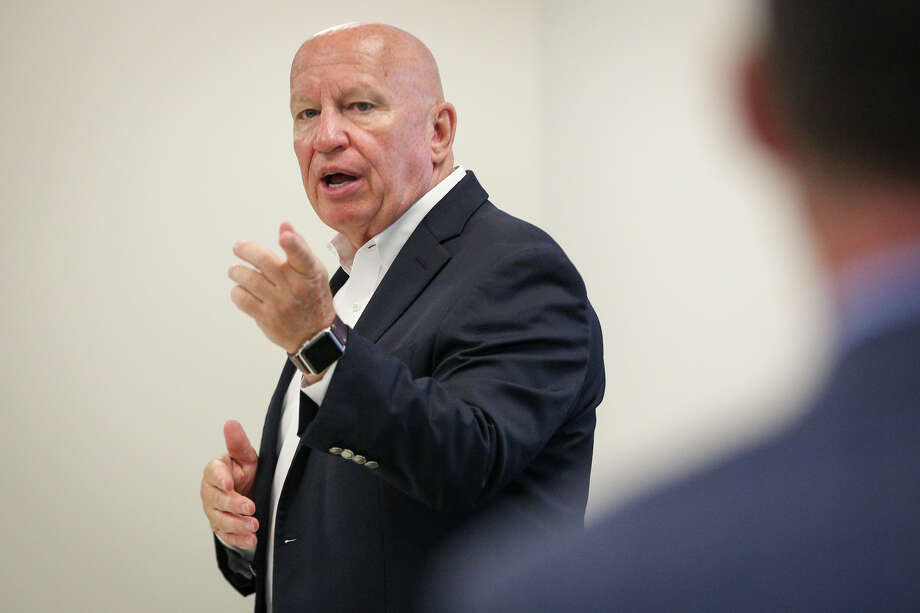 U.S. Rep. Kevin Brady, R-The Woodlands, speaks during a town hall meeting with Jones & Carter, an engineering and surveying firm, on Monday, Aug. 7, 2017. Photo: Michael Minasi, Staff Photographer / © 2017 Houston Chronicle