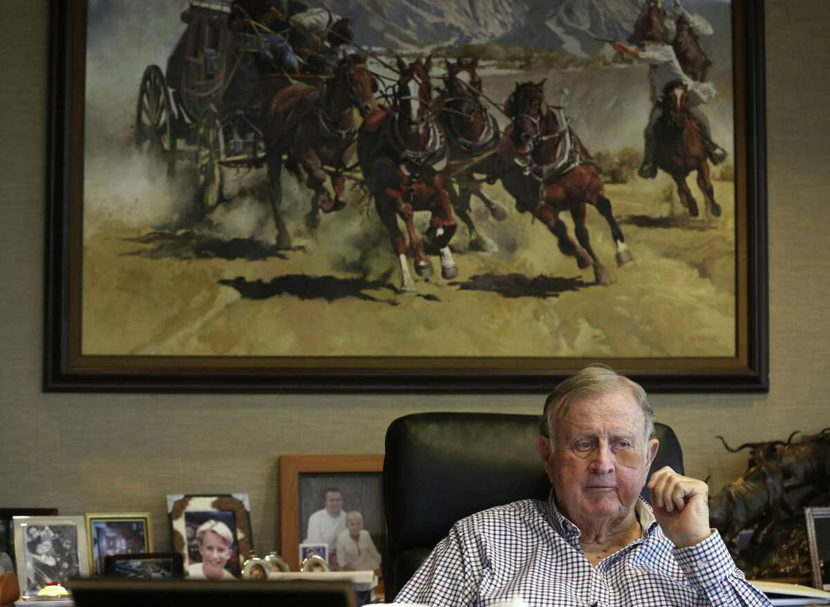 """B.J. ?'Red?"""" McCombs is seen Aug. 24, 2017 in his near-north side office."""