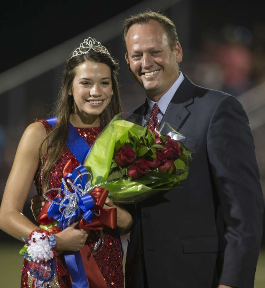 Midland Christian Homecoming queen, Abby Claire Brown, escorted by her father, Alan Brown.  9/15/17 Tim Fischer/Reporter-Telegram Photo: Tim Fischer/Midland Reporter-Telegram