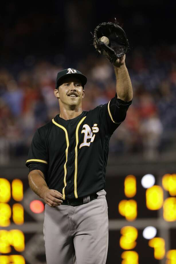The A's Daniel Mengden struck out seven and walked none. Photo: Matt Slocum, Associated Press