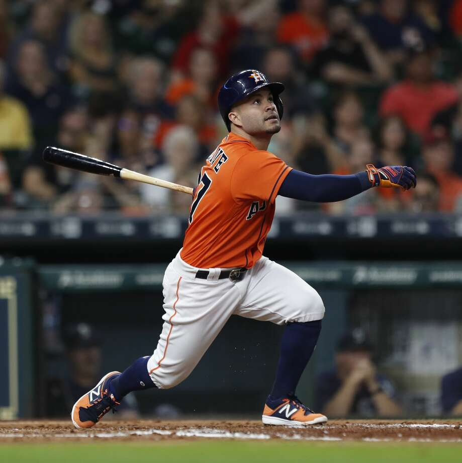 Astros second baseman Jose Altuve got a routine day off Sunday. The potential for the team to clinch a division title did not alter manager A.J. Hinch's regular plan for resting players. Photo: Karen Warren/Houston Chronicle