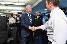 Former President Bill Clinton participates in a New York fundraiser commemorating the anniversary of the Sept. 11 terrorist attacks.