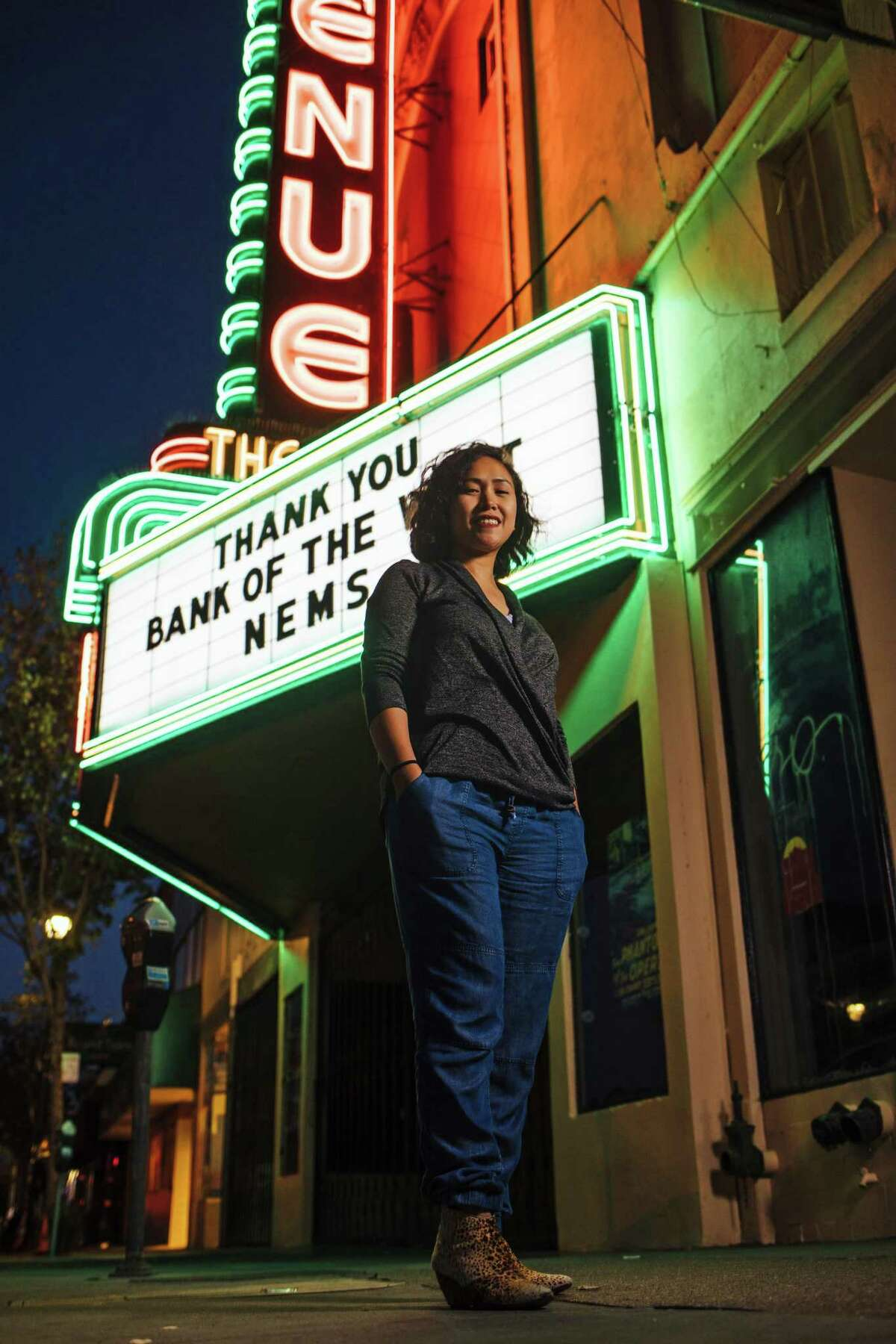 Rica Sunga-Kwan, owner of the Churn Urban Creamery, photographed outside the Avenue Theater in San Francisco, Calif. Thursday, September 14, 2017.