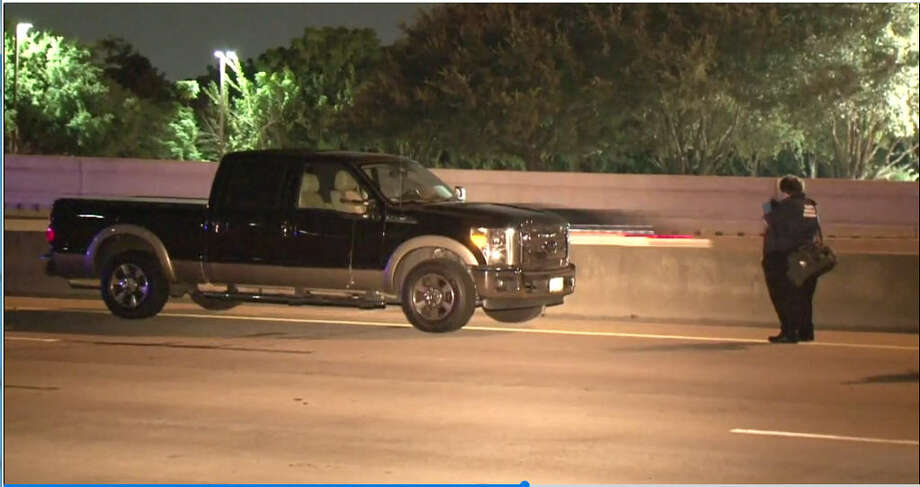 A woman was struck and killed Friday night while walking on the inbound lanes of the Katy Freeway, according to police. The woman, who has not been identified, was seen walking around 10:20 p.m. on the Katy Freeway near the Yale Exit, said Thomas Fendia with the Houston Police Department. Photo: Metro Video
