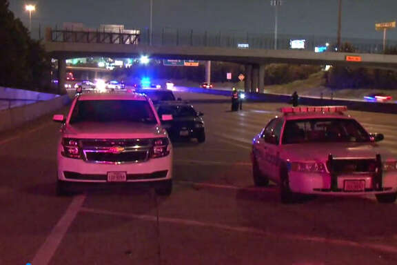 A woman was struck and killed Friday night while walking on the inbound lanes of the Katy Freeway, according to police. The woman, who has not been identified, was seen walking around 10:20 p.m. on the Katy Freeway near the Yale Exit, said Thomas Fendia with the Houston Police Department.