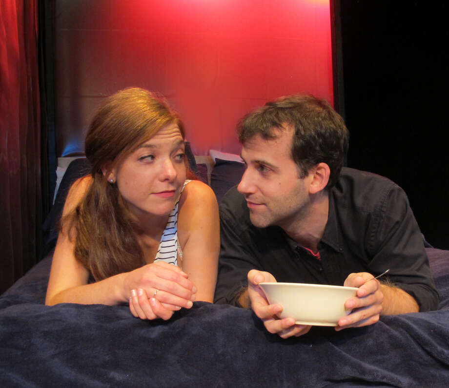 "Susan Slotoroff and Morgan Hooper in ""How to Pray"" at Bridge Street Theatre. (BST publicity photo.) Photo: Picasa"