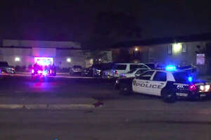 A man was shot apparently seven times Friday night after an argument broke out at a southwest Houston apartment complex, according to authorities.
