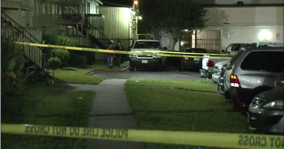 A man was shot apparently seven times Friday night after an argument broke out at a southwest Houston apartment complex, according to authorities. Photo: Metro Video