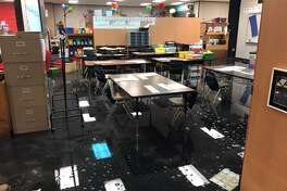 Moore        Elementary had to relocate to the former campus of Matzke Elementary on        Jones Road due todamages caused by Hurricane Harvey's floodwaters, which is now estimated at approximately $10.5 to        $12 million.