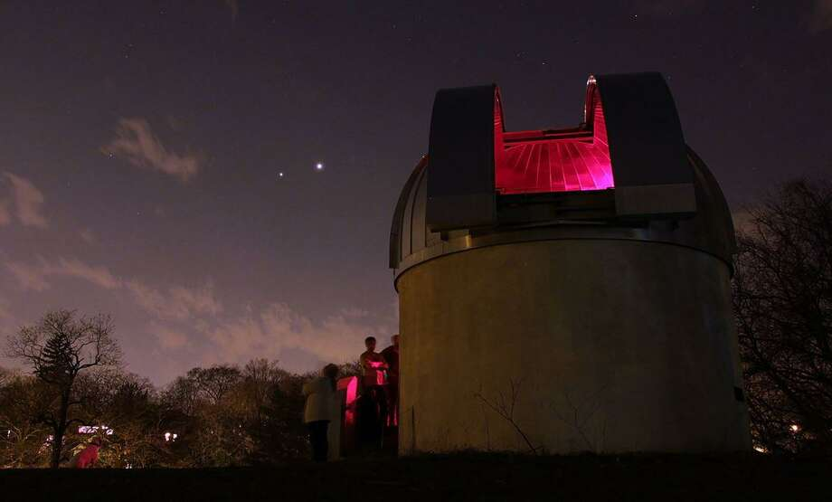 The Bowman Observatory with Venus and Jupiter in the background. Photo: Rick Bria /Contributed Photo