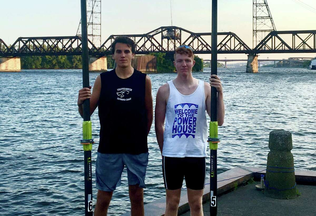 Christian Sauer, left, of Delmar, and Connor Toomey of Albany earned a spot to participate in the 2017 World Rowing Championships in Sarasota-Bradenton, Fla., Sept. 23-25.