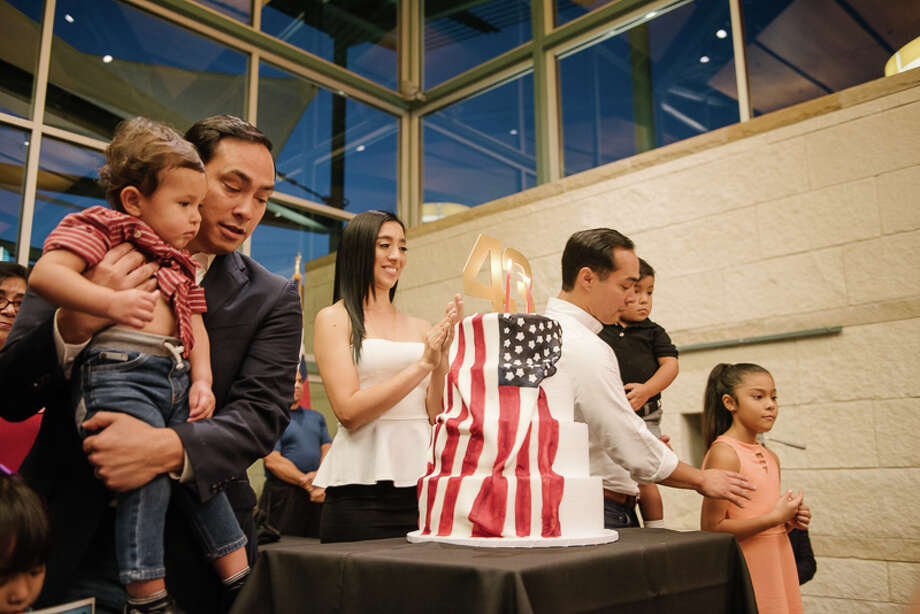 San Antonio's political power duo, Julian and Joaquin Castro, celebrated their 43rd birthday at The DoSeum Friday night, Sept. 15, 2017, amid friends, family and fans. Photo: Solarshot For MySA
