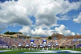 DURHAM, NC - SEPTEMBER 16: General view of the game between the Duke Blue Devils and the Baylor Bears at Wallace Wade Stadium on September 16, 2017 in Durham, North Carolina.