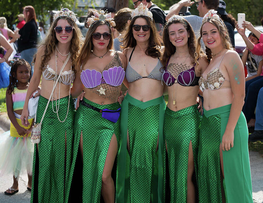 Downtown San Marcos was filled Saturday, Sept. 16, 2017, with mermaids, mermen, merpets and all things mer, for an annual parade and festival celebrating art, history and culture of the Central Texas town. And of course, there were mermaids. Photo: B. Kay Richter  For MySA