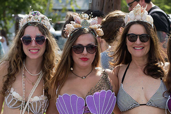 Downtown San Marcos was filled Saturday, Sept. 16, 2017, with mermaids, mermen, merpets and all things mer, for an annual parade and festival celebrating art, history and culture of the Central Texas town. And of course, there were mermaids.