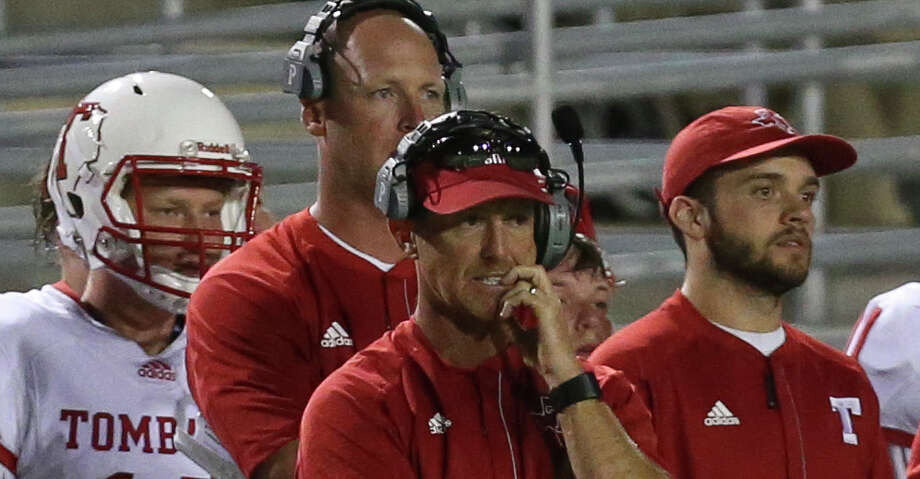 Tomball's head coach Kevin Flanigan during the first half of the game against Tomball at the Woodforest Bank Stadium Friday, Sept. 8, 2017, in The Woodlands. ( Yi-Chin Lee / Houston Chronicle ) Photo: Yi-Chin Lee/Houston Chronicle