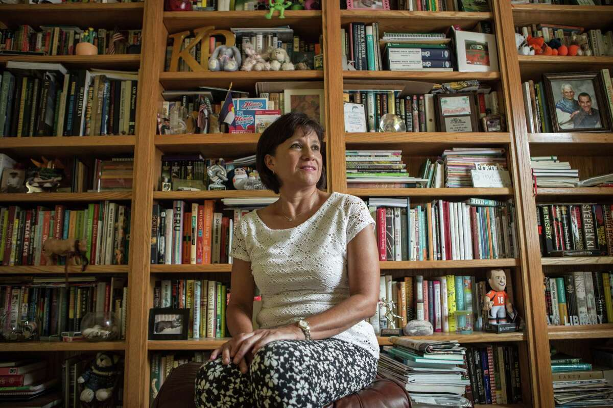 Kathy Roldan poses for a portrait in her home Wednesday September 13, 2017 in Houston. (Michael Starghill, Jr.)