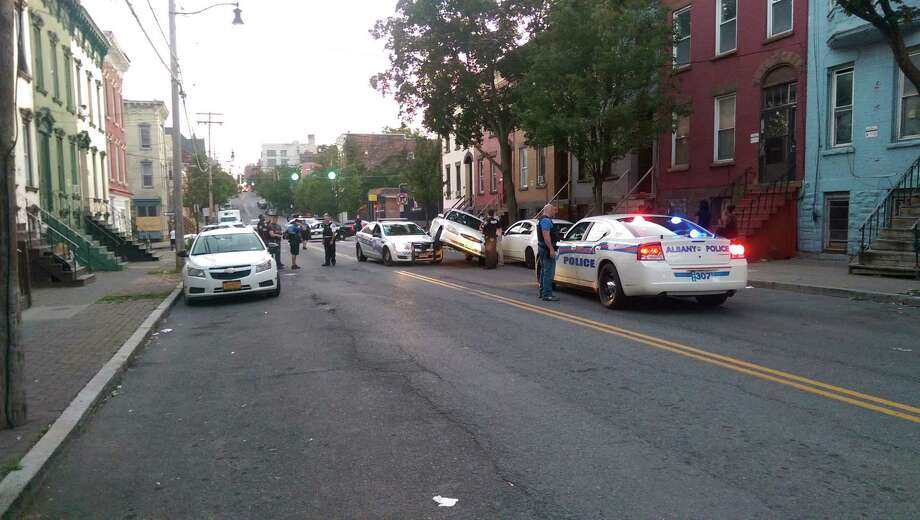 Albany police officers investigate a car crash on Lark Street in thisSept. 16., 2017, file photo. Photo: Jason Kraus