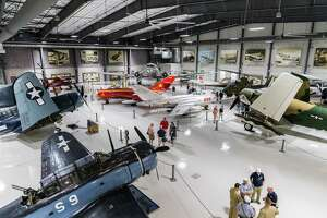 September 16, 2017:  The Waltrip Hangar houses restored aircraft in a 30,000 square foot space in the Lone Star Flight Museum at Ellington Airport in Houston, Texas. (Leslie Plaza Johnson/Freelance