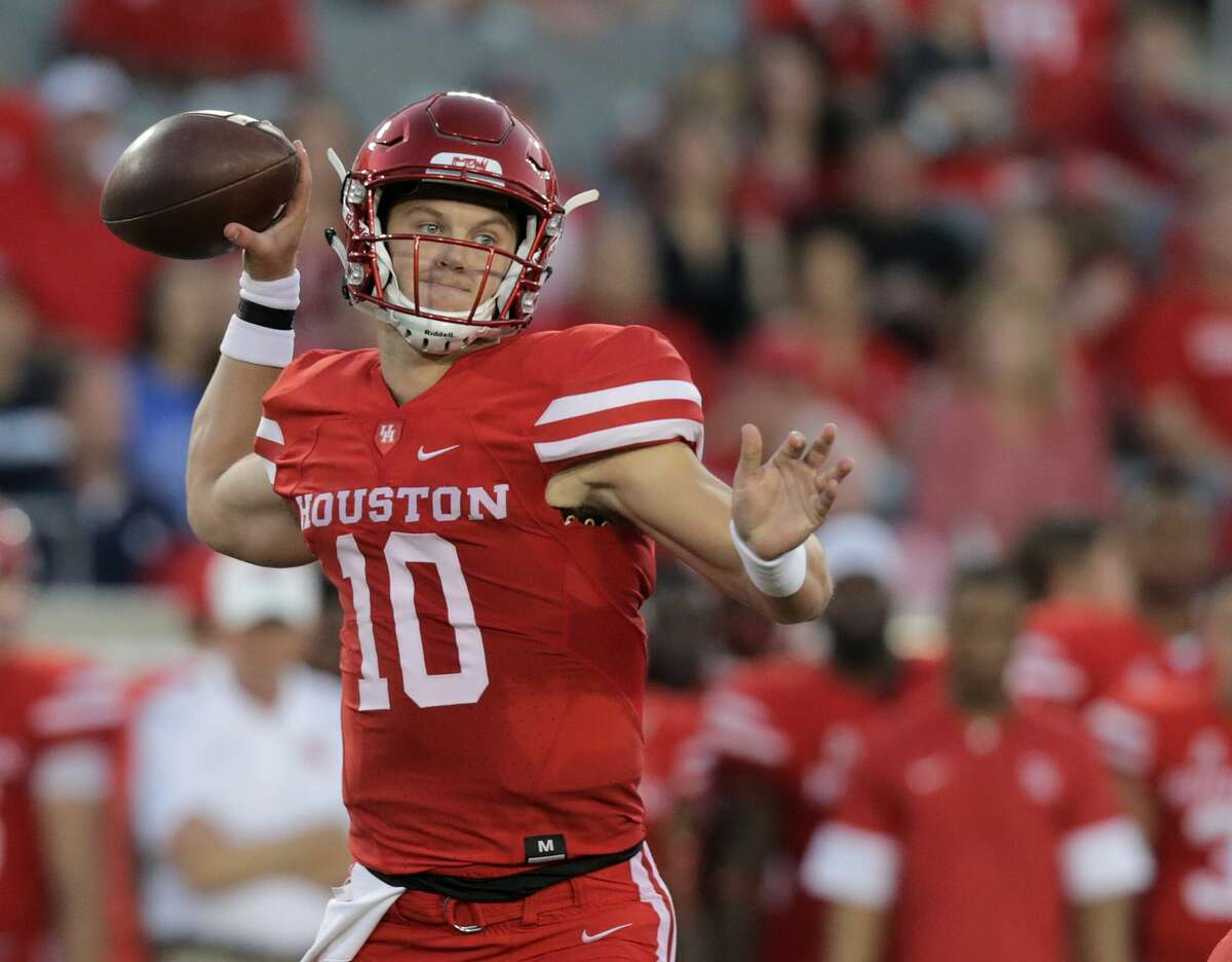 AAC POWER RANKINGS 3. Houston (2-0) Kyle Allen (pictured) set single-game school record for completion percentage, going 31 of 33 (93.9 percent) in a 38-3 win over Rice in the Bayou Bucket rivalry. The Cougars came within 2 minutes, 47 seconds of the shutout, a performance that moved them to seventh nationally in scoring defense (9.5 points allowed per game). Houston will put a nation-best 16-game home winning streak on the line Saturday against Texas Tech, which is fourth in the country in scoring at 54 points per game. - Joseph Duarte, Houston Chronicle