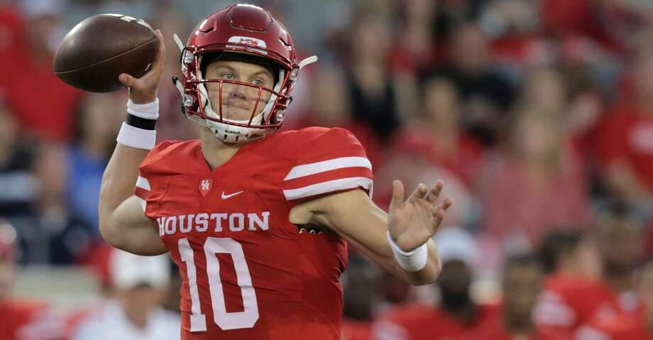 PHOTOS: UH 38, Rice 3Houston Cougars quarterback Kyle Allen (10) throws the ball in the first inning against Rice Owls  at TDECU Stadium on Saturday, Sept. 16, 2017, in Houston. ( Elizabeth Conley / Houston Chronicle )Browse through the photos to see action from UH's win over Rice on Saturday night. Photo: Elizabeth Conley/Houston Chronicle