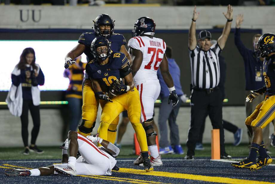 Cal linebacker Cameron Goode's interception return for a touchdown in the fourth quarter helped sink Ole Miss, one of many indications of a improved defense under Justin Wilcox. Photo: Santiago Mejia, The Chronicle