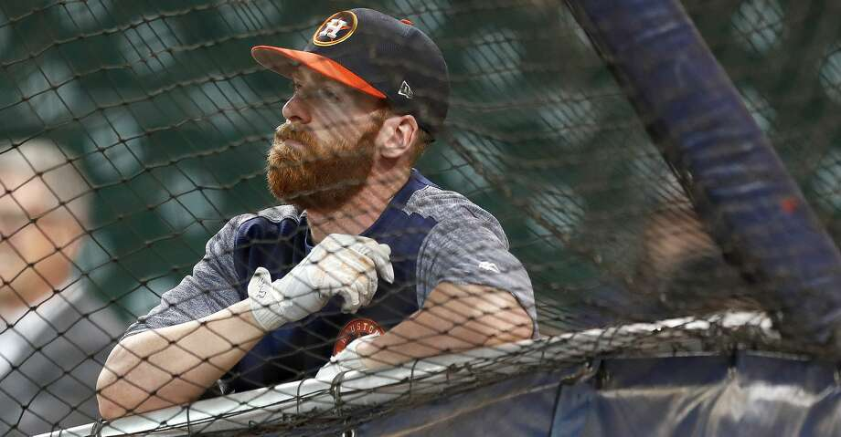 Houston Astros Colin Moran during batting practice before the start of an MLB baseball game at Minute Maid Park, Tuesday, July, 18, 2017. ( Karen Warren / Houston Chronicle ) Photo: Karen Warren/Houston Chronicle