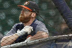 Houston Astros Colin Moran during batting practice before the start of an MLB baseball game at Minute Maid Park, Tuesday, July, 18, 2017. ( Karen Warren / Houston Chronicle )
