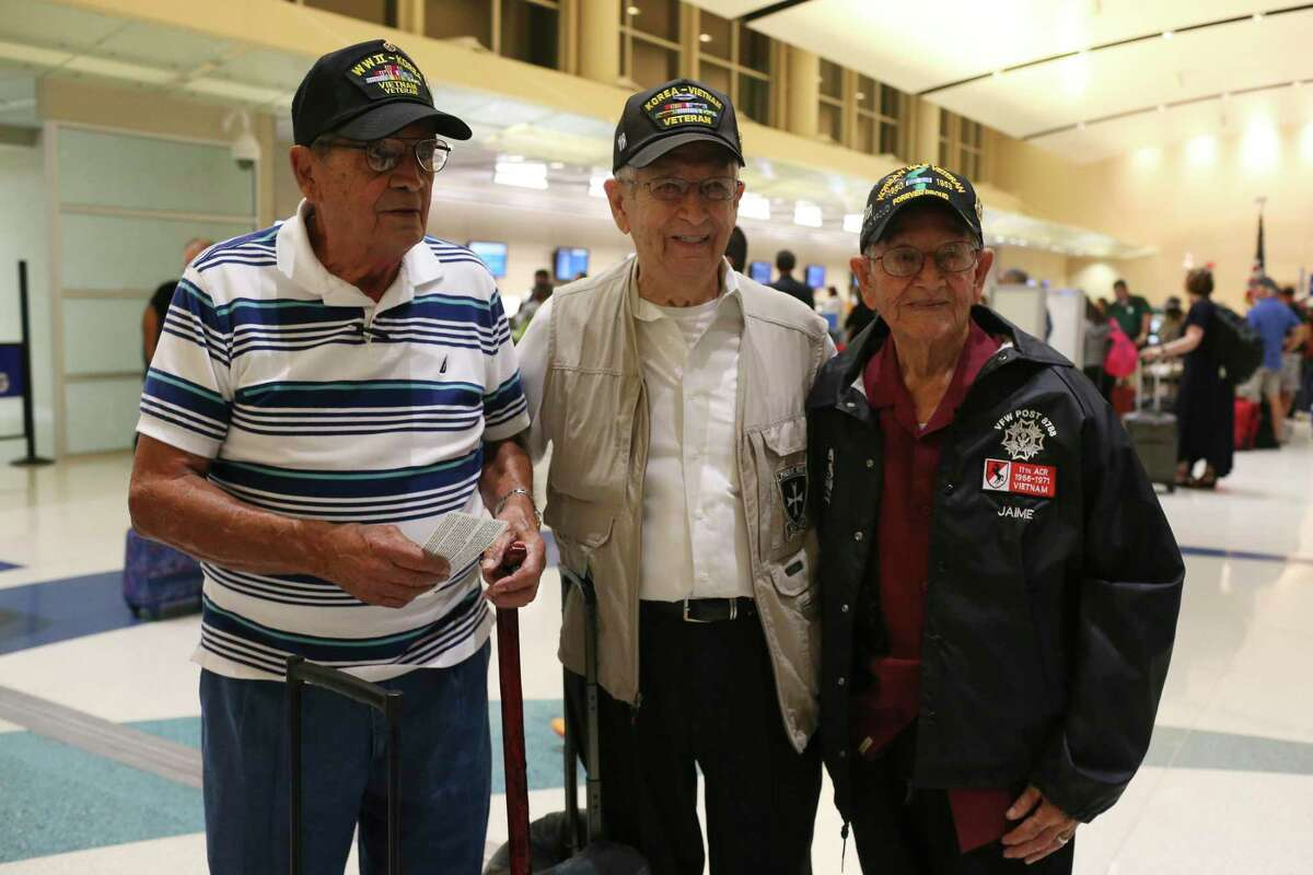"""In 2017, Korean War veterans Ismael Nevarez, Victor Lopez and Daniel Jaime, flew back to Korea. They served in the U.S. Army 65th Infantry Regiment known as """"The Borinqueneers,"""" which received the Congressional Gold Medal. Our nation's Hispanic heritage is rich, vast and diverse."""