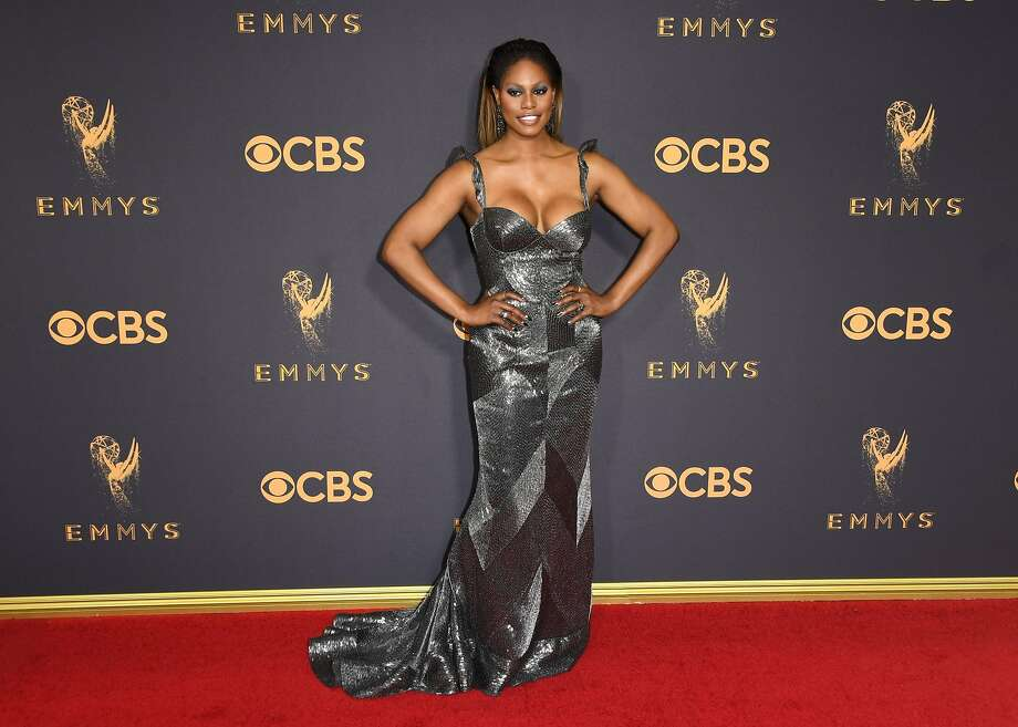 Laverne Cox arrives for the 69th Emmy Awards at the Microsoft Theatre on September 17, 2017 in Los Angeles, California. / AFP PHOTO / Mark RALSTONMARK RALSTON/AFP/Getty Images Photo: MARK RALSTON, AFP/Getty Images