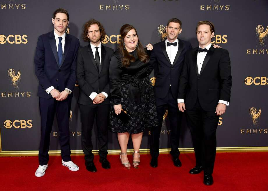 LOS ANGELES, CA - SEPTEMBER 17:  (L-R) Actors Pete Davidson, Kyle Mooney, Aidy Bryant, Mikey Day and Beck Bennett attend the 69th Annual Primetime Emmy Awards at Microsoft Theater on September 17, 2017 in Los Angeles, California.  (Photo by Frazer Harrison/Getty Images) Photo: Frazer Harrison, Getty Images