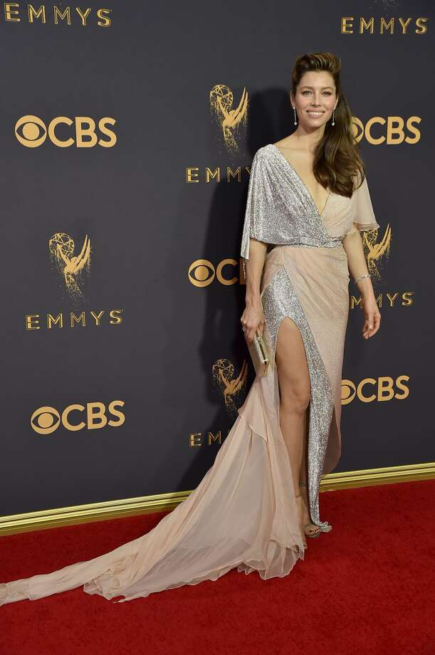 Best:Jessica Biel keeps it sweet and simple.Keep clicking to see which celebrities were named best and worst dressed of the 69th Emmy Awards. Photo: Jeff Kravitz/FilmMagic