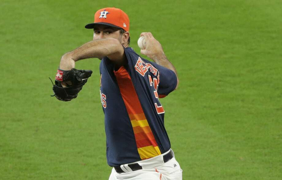 The Astros have a clear No. 1 and No. 2 starter in the playoffs with Justin Verlander (above) and Dallas Keuchel. The question is: Who fills in the rest of the postseason rotation? Photo: Elizabeth Conley/Houston Chronicle