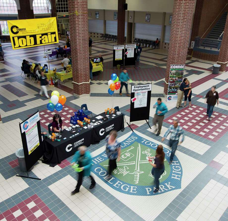 Conroe ISD held a job fair at College Park High School, Thursday, June 22, 2017, in The Woodlands. Photo: Jason Fochtman, Staff Photographer / © 2017 Houston Chronicle